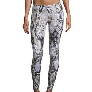 ALO Yoga Python Tan Brown Snake Airbrush Leggings